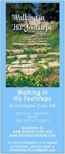 Christopher Cross has written a book entitled Walking In His Footsteps